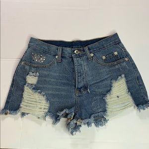 NX3 Denim Shorts